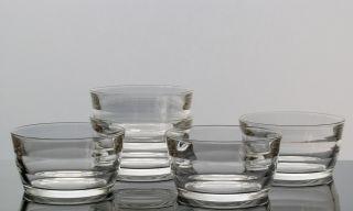 Kaj Franck Nuutajärvi Finland 5x Schale Dessertschale Prisma Glas 60er Jahre Bild