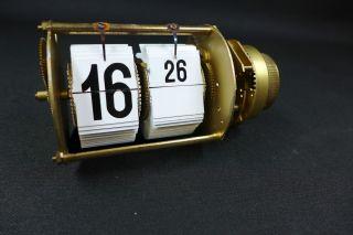 50er Jahre Mechanisch Klapp Zahlen Uhrwerk Endura Time Corp.  Flip Clock Bild