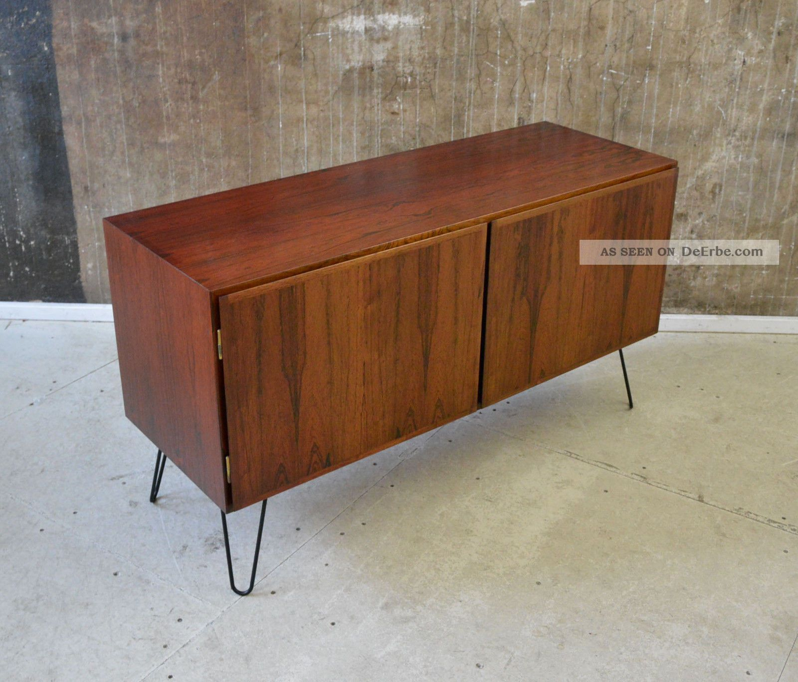 60er omann jun palisander sideboard kommode danish modern 60s rosewood cabinet. Black Bedroom Furniture Sets. Home Design Ideas
