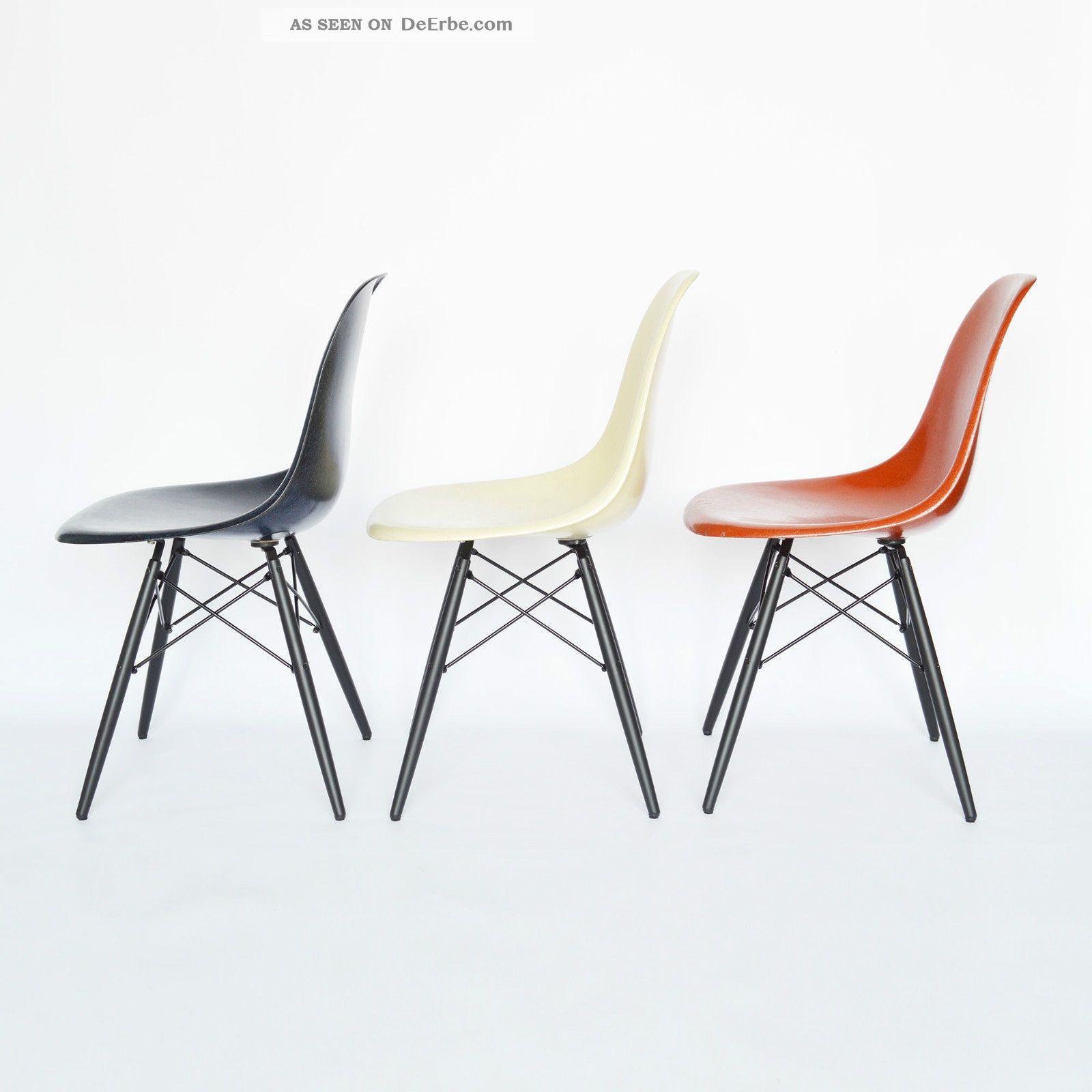 eames side chair fiberglass dsw eames stuhl holzgestell by vitra herman miller. Black Bedroom Furniture Sets. Home Design Ideas