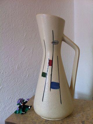 50 ' S Wgp West German Pottery Scheurich Keramik Bodenvase Floor Vase 272 - 38 (238) Bild