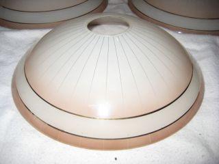 4 Alte Glas Lampenschirme Bild