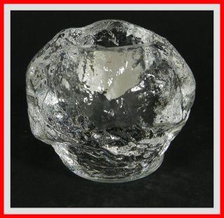 Kosta Boda Teelichthalter Snowball Design Ann Wärff Sweden Crystal Kristall Glas Bild