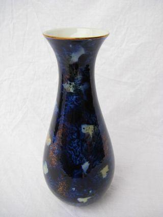 Vase Wallendorf Porzellan,  Echt Kobalt,  German Pottery,  Ausgefallenes Design Bild