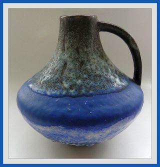 Vase Carstens Atelier Form 200 Blau Gerda Heuckeroth Wgp Ceramic Blue Fat Lava Bild