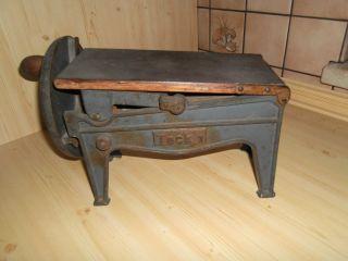 Antike Jugendstil Teck1 Tabak Schneider,  Schneidemaschine Bild