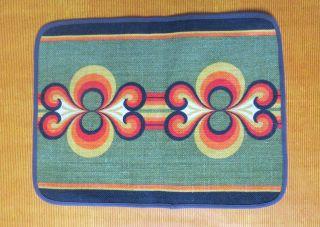 60er/70er Platz - Decke Tischset Jute Like Söhdahl Denmark Psychedelic Space Age Bild