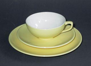 Um 1960: Melitta Minden Gedeck Tee Kaffee Gelb 3teil.  Tasse,  Untertasse,  Teller Bild