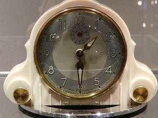 Art Deco Vintage Smi Bakelit Uhr Wecker - Table Clock - 30/40er Jahre Bild