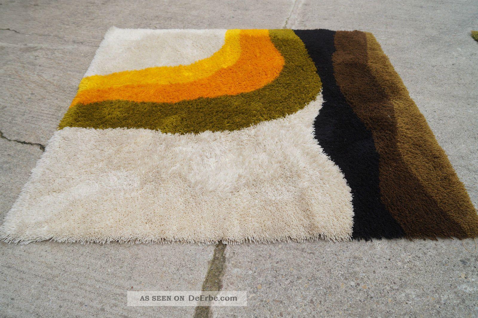 70er Space Age Hochflor Teppich Carpet Rug Danish Modern