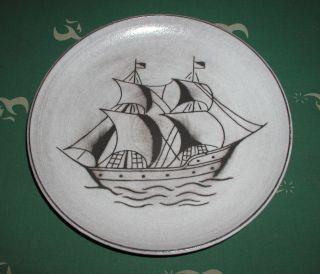 Hedwig Bollhagen Wandteller Segelschiff Kunstkeramik Bild