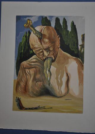 Salvador Dali - Orig.  Holzschnitt Bild