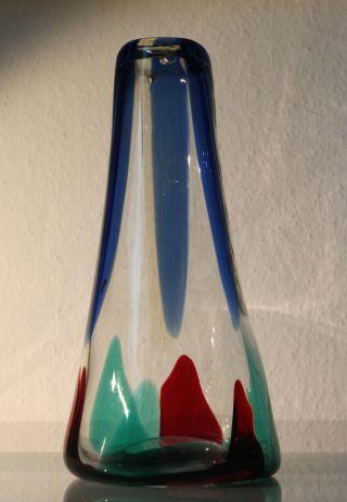 Pezzame Vase ° Fulvio Bianconi Für Venini,  Murano Um 1950 Bild