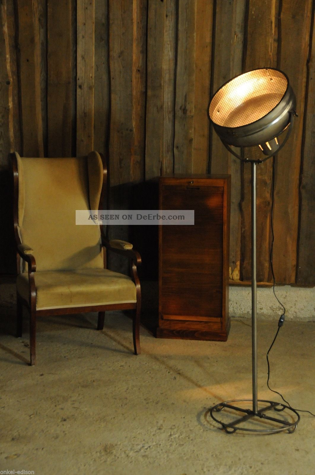 vintage scheinwerfer stehlampe retro industriedesign manufaktur industrial. Black Bedroom Furniture Sets. Home Design Ideas