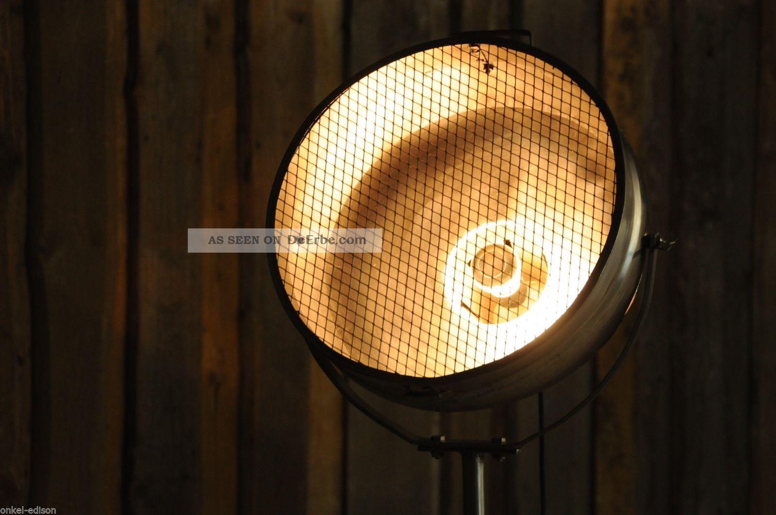 vintage scheinwerfer stehlampe retro industriedesign. Black Bedroom Furniture Sets. Home Design Ideas