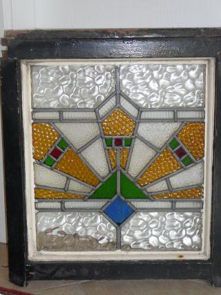 Antik Jugendstil - Fenster - Bleiverglasung - Bild