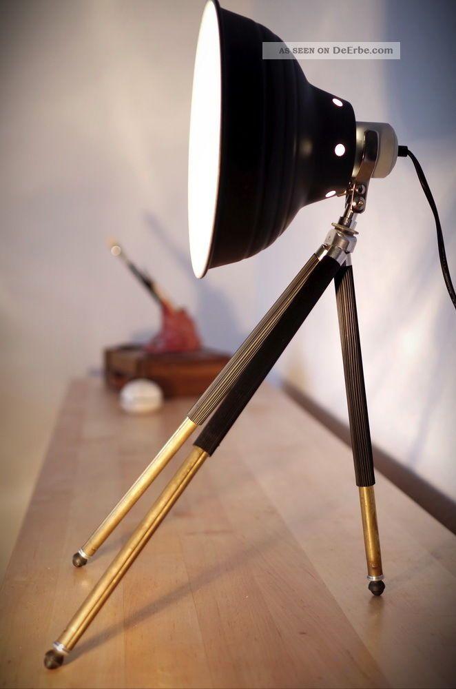 studio steh lampe tripod fabrik nachtlicht bauhaus art deco tisch leuchte stativ. Black Bedroom Furniture Sets. Home Design Ideas