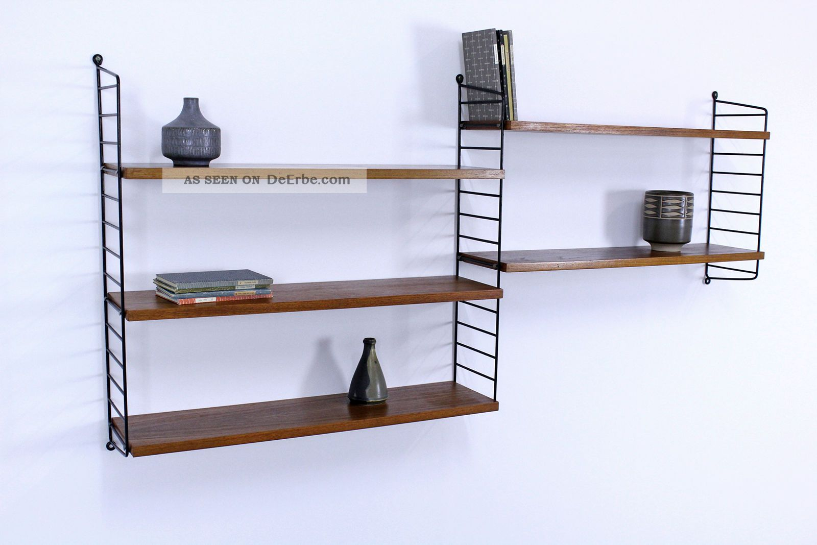 regal system string teak nisse strinning sweden shelving system no2. Black Bedroom Furniture Sets. Home Design Ideas