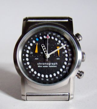 Blaupunkt Chronograph Datum Unisex Design Pur 80er Nos Top & Rare Bild