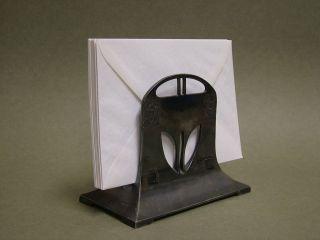 Wmf Albin MÜller Ständer Briefhalter Envelope Rack 1906 Britannia Jugstil Bild