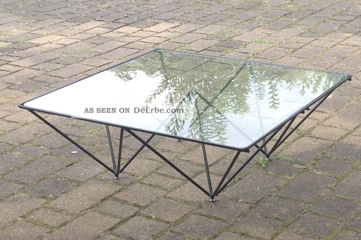 des paolo piva modell alanda kaffee tisch coffee table v b b italia glas metall. Black Bedroom Furniture Sets. Home Design Ideas