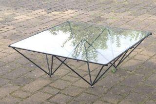Des.  Paolo Piva Modell Alanda Kaffee Tisch Coffee Table V B&b Italia Glas Metall Bild