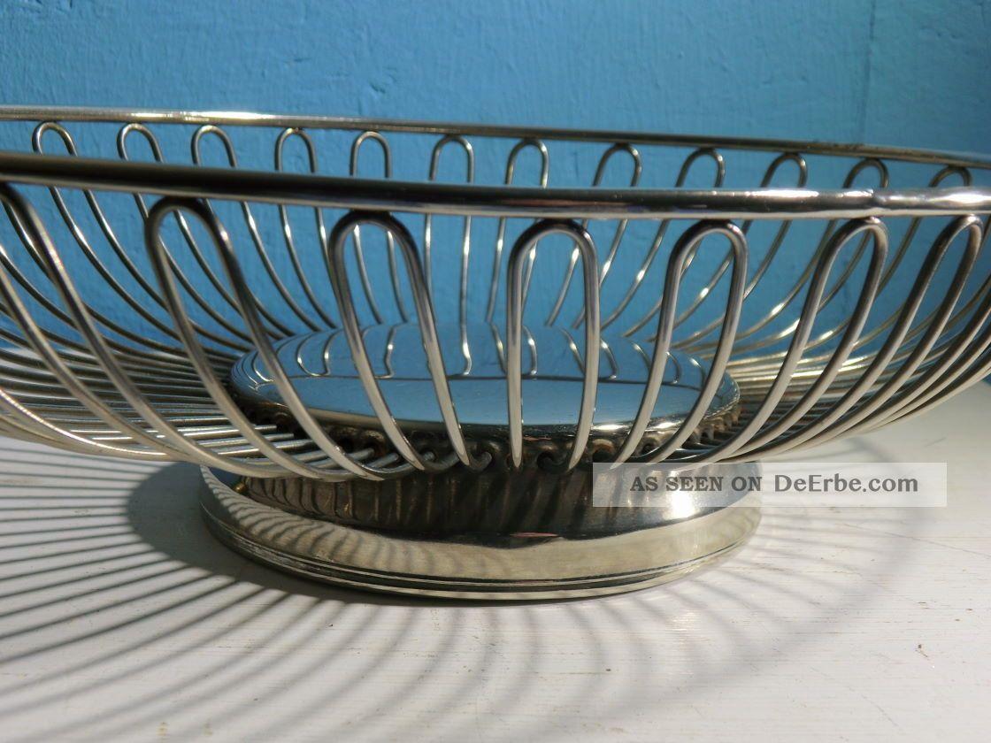 art deco obstkorb brotkorb br tchenkorb korb metall bauhaus shabby. Black Bedroom Furniture Sets. Home Design Ideas