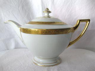 °°°thomas.  Porzellan.  Teekanne.  Bavaria.  9128/5.  Mit Goldrand.  Art Deco.  Um 1930 Bild