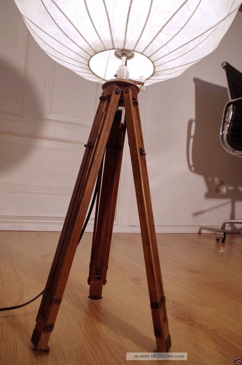 cocoon tripod steh lampe holz stativ dreibein art deco loft antik 20 60 ica flos. Black Bedroom Furniture Sets. Home Design Ideas