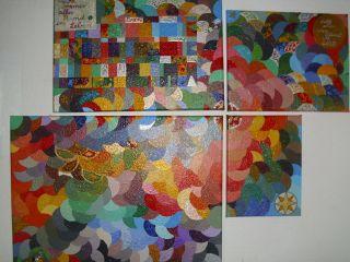 4teilig Acryl Gemälde,  über 450 Versch.  Farben,  Maler