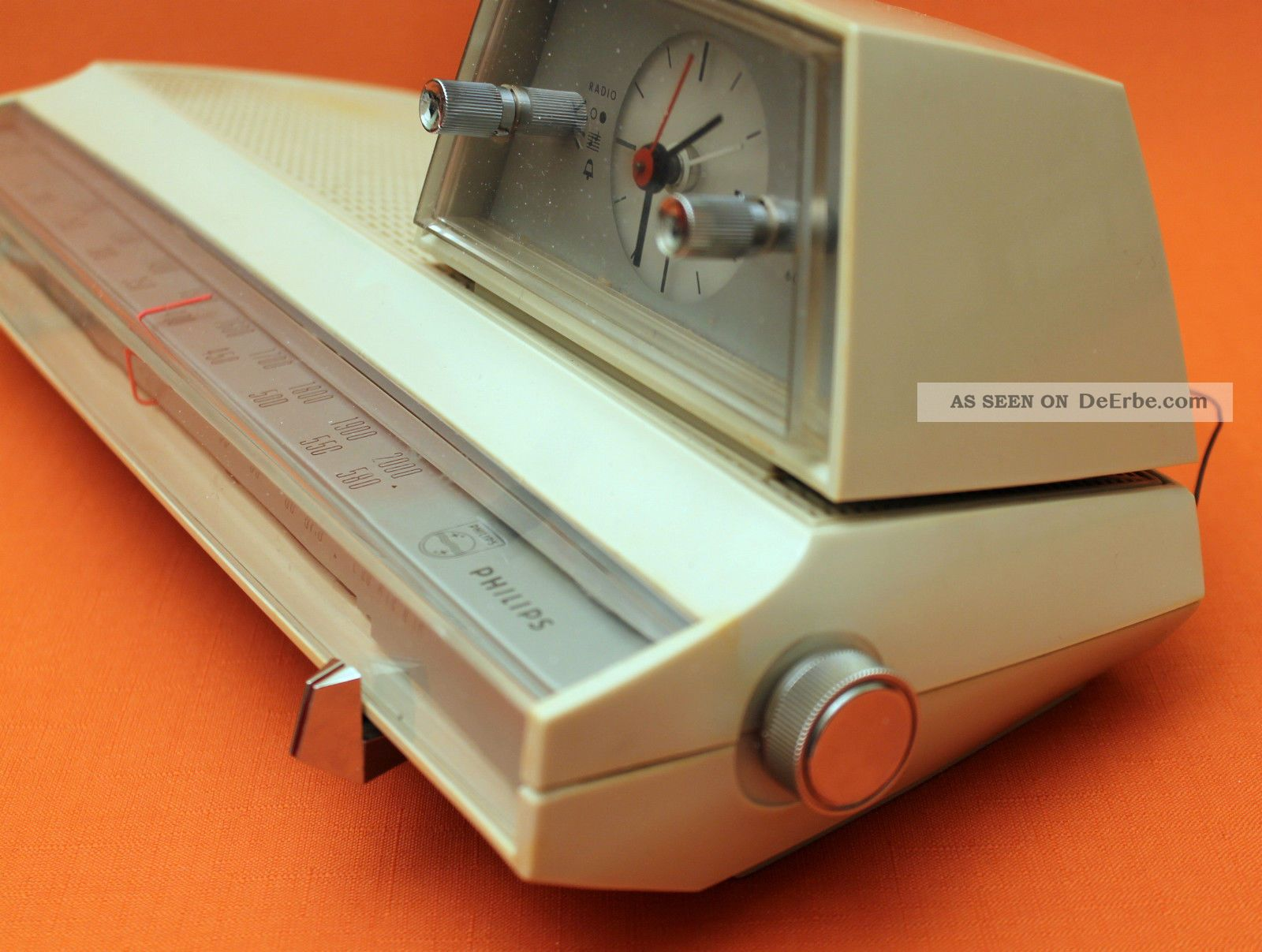 vintage designer radiowecker uhren radio wecker philips 60er 70er. Black Bedroom Furniture Sets. Home Design Ideas