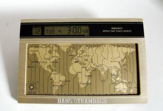 Seiko Ek 401 G Weltzeituhr Vintage World Time Touch Sensor 80er Rare Bild