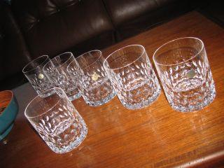 6 Whiskygläser Peill Granada 1963 Bleikristall Tumbler Whiskey Becher 60s Bild
