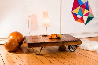 Rollpalette Industrie Vintage Coffeetable Loft Couchtisch - Top Restauriert ✱✱✱ Bild