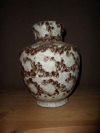 Henkelvase Großer Krug Fat Lava Keramik 70er Jahre Bay Bild