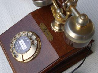 Telefon Altes Holz Lyon Telephone Fernsprecher D Feap 301 Post Bild