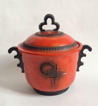 Art Déco Bowle Um 1920/30er Marzi & Remy Keramik Bauhaus Selten Rar Bild