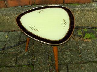 Beistelltisch/blumenhocker 50er Jahre/rockabilly Mit Glasplatte Tisch Bild