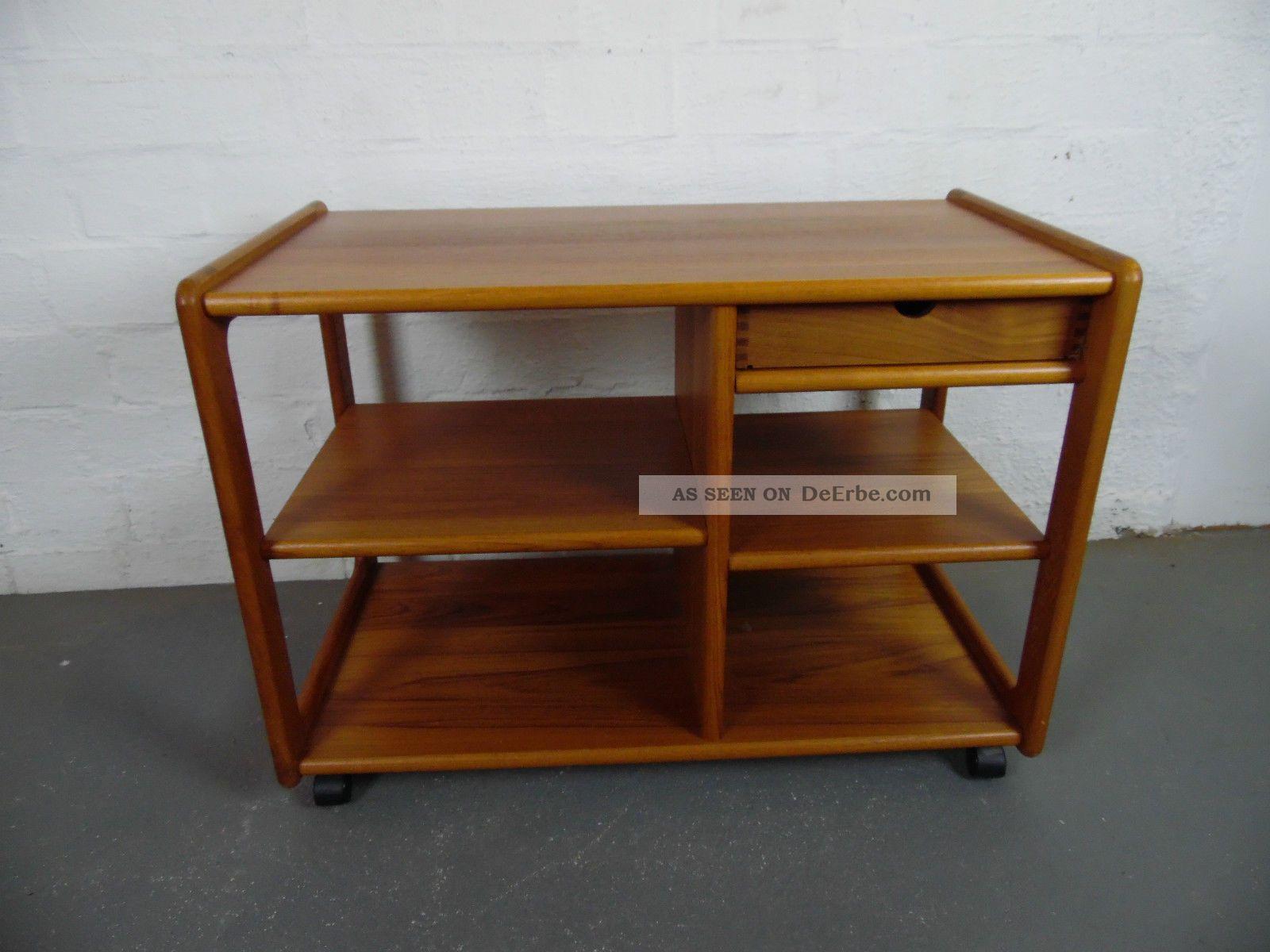 Teak tv phono wagen tv tisch phonowagen regal danish for Tisch design danemark