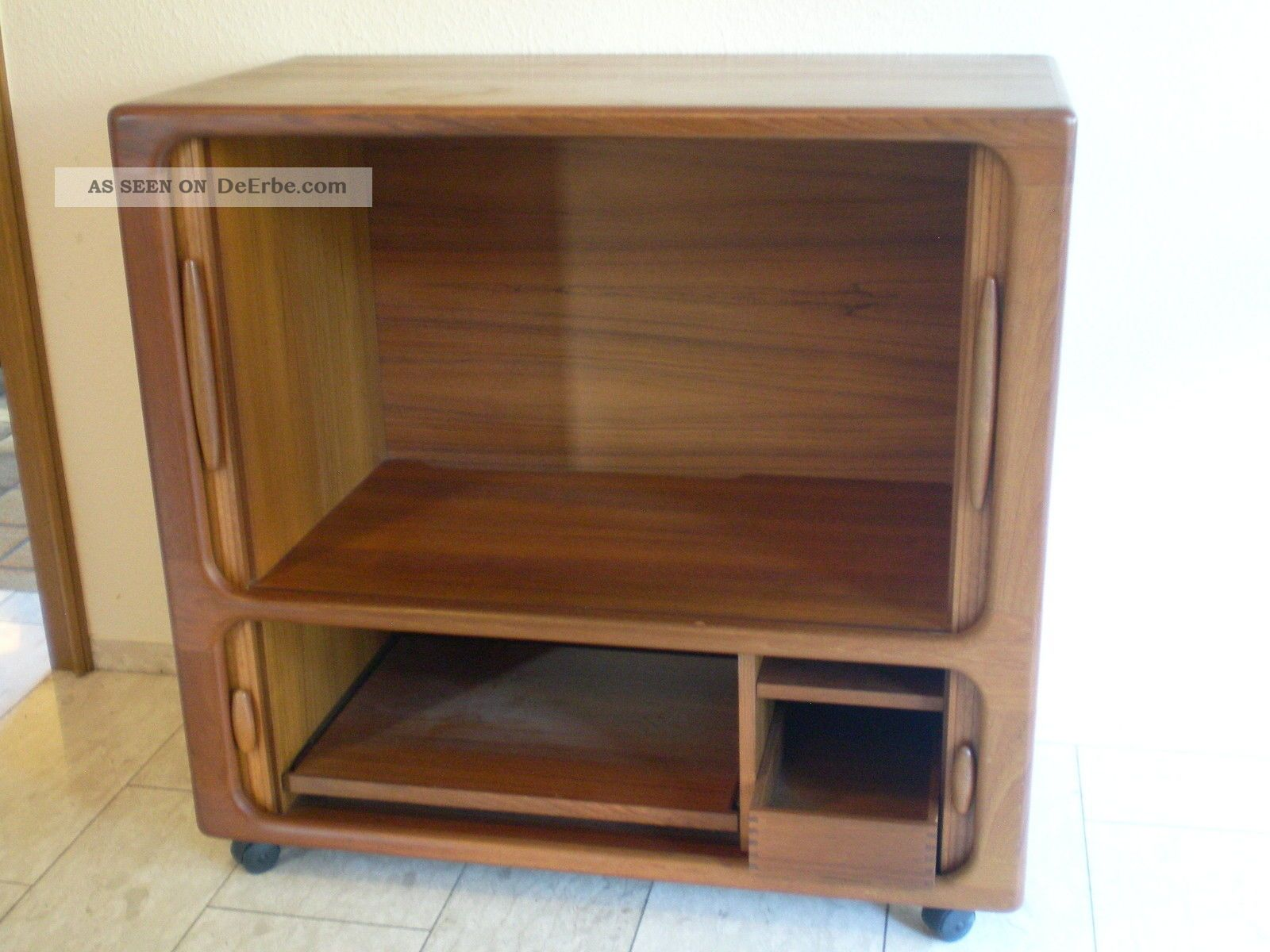 Highboard tv wei holz carprola for for Schrank holz