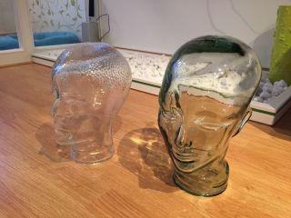 2x Retro Glasköpfe Für Kopfhörer Oder Perücken,  Auch Als Vintage - Deko Geeignet Bild