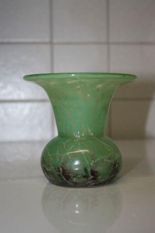Antike Alte Art Déco Vase - Wmf Ikora - 30er Jahre - Glasvase Bild