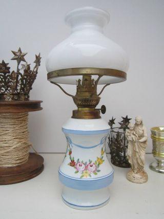 Biedermeier Jugendstil Porzellan Petroleumlampe Shabby Jeanne Bild