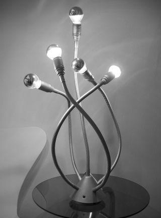 Riesige Sputnik Medusa Leuchte 5 - Flammig 70er Stil Skulptur Lampe Catellani & Sm Bild