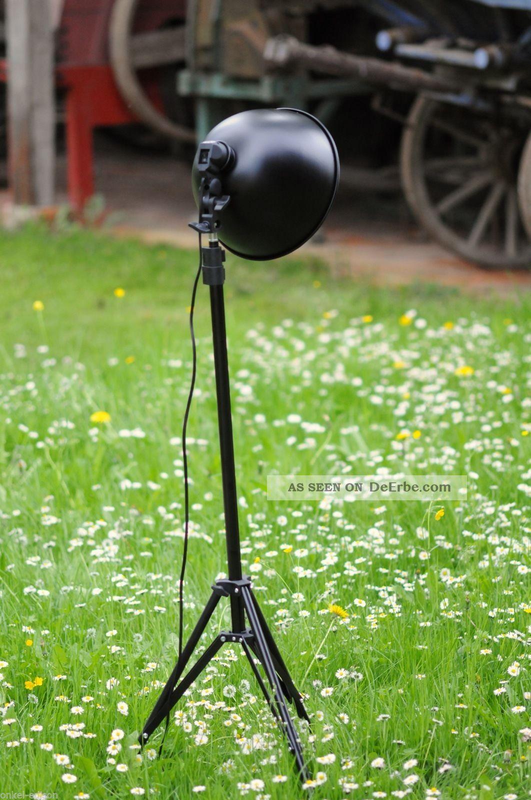 loft studio lampe tripod stehlampe industriedesign bauhaus stil bis 2 10 meter. Black Bedroom Furniture Sets. Home Design Ideas