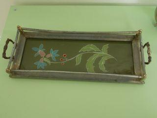 1920 / 1900 Alt Vintage Sammlerstück Jugendstil Tablett Rarität Antik Bild
