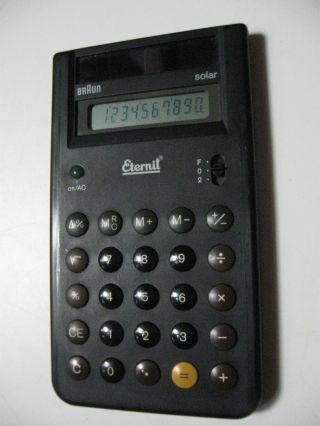 Braun Solar - Taschenrechner,  Typ 4777 - Werbe Bild