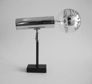 70er Staff W306 Großer Chrom Strahler Designleuchte Lampe Panton Colani Space Bild