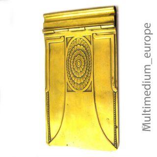 Jugendstil Schreibblock Halter Aus Messing Wmf Straußenmarke Art Nouveau Bild