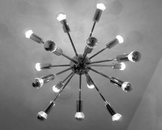 16 - Fach Sputnik Designleuchte Pendelleuchte Lampe Lüster Im Pistillo 70er Stil Bild
